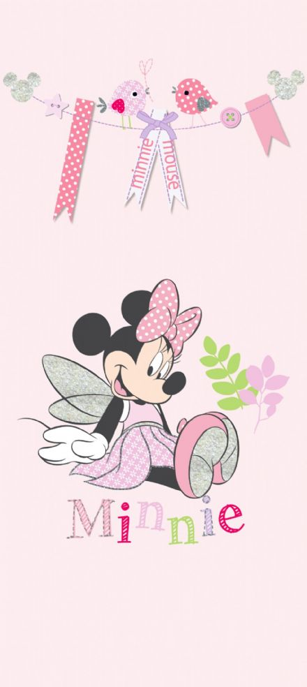 Minnie Mouse mural wallpaper 90x202cm
